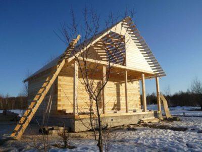 Фоторепортаж строительства дома из бруса в г. Переславль-Залесский