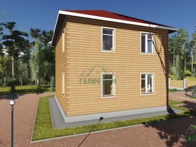 Картинка (3) Двухэтажный дом 10х10 (ДБ-76)