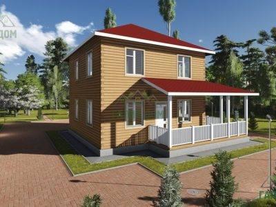 Картинка (4) Проект двухэтажного дома из бруса 10х10 (ДБ-76)