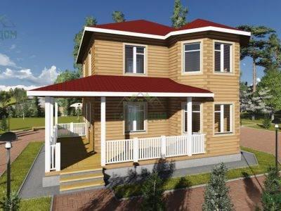ДБ-76 | Двухэтажный дом из бруса 10х10