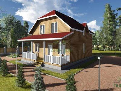 Картинка (3) Деревянный дом 8х11 (ДБ-77)