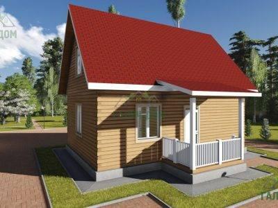 Картинка (4) Проект жилого дома из бруса 8 на 9 (ДБ-78)