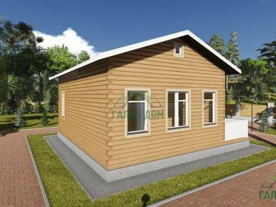 Картинка (3) Проект одноэтажного дома из бруса 8х8 (ДБ-80)