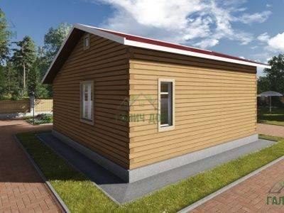 Картинка (4) Проект одноэтажного дома 8х8 (ДБ-80)