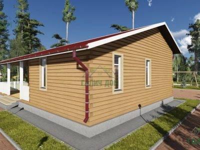 Картинка (2) Одноэтажный дом из бруса 9х12 (ДБ-81)