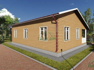 Картинка (4) Проект одноэтажного дома из бруса 9х12 (ДБ-81)