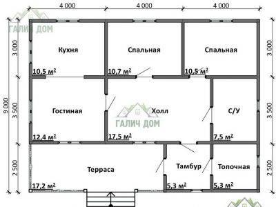 Картинка (5) Планировка дома 9х12 (ДБ-81)