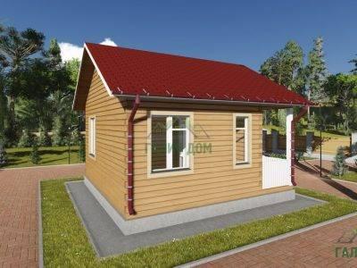 Картинка (4) Проект одноэтажного дома 6х6 (ДБ-82)