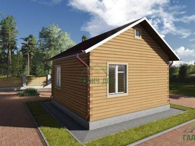 Картинка (3) Проект одноэтажного дома из бруса 6х6 (ДБ-82)
