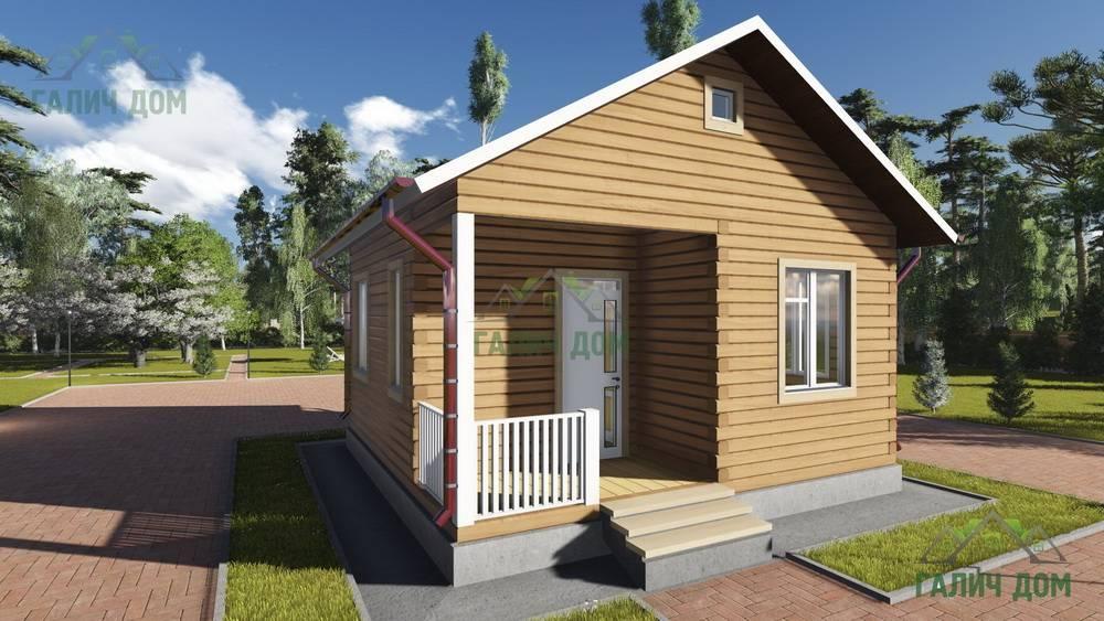 Картинка (1) Одноэтажный дом из бруса 6х6 (ДБ-82)