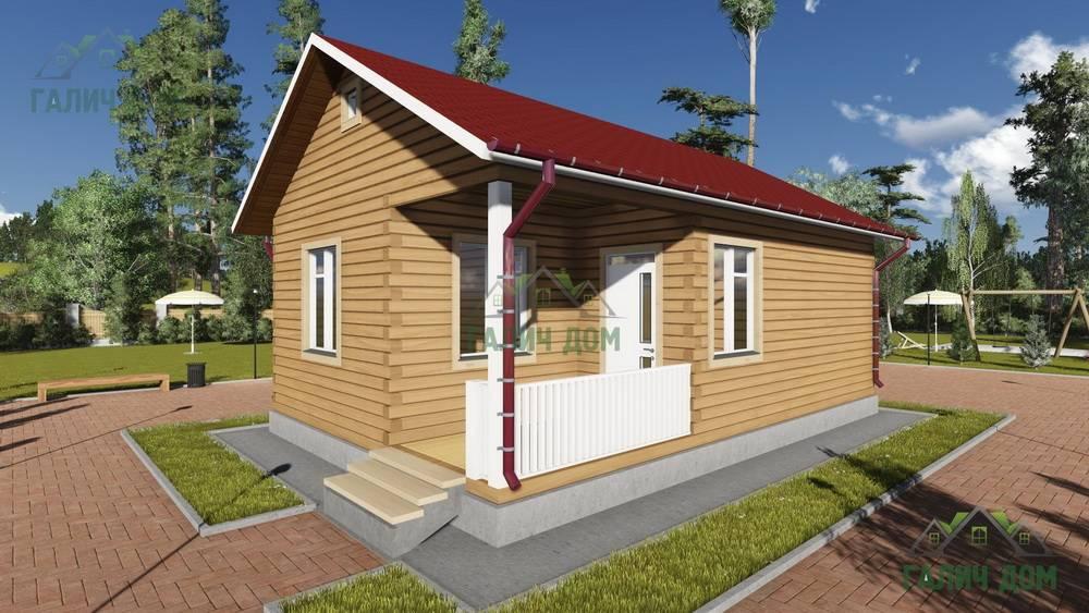 Картинка (1) Одноэтажный дом из бруса 6х9 (ДБ-83)