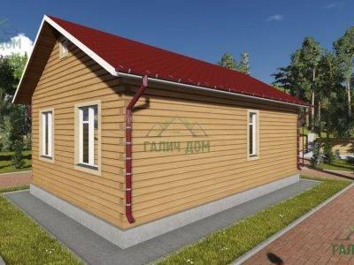 Картинка (3) Проект одноэтажного дома из бруса 6х9 (ДБ-83)