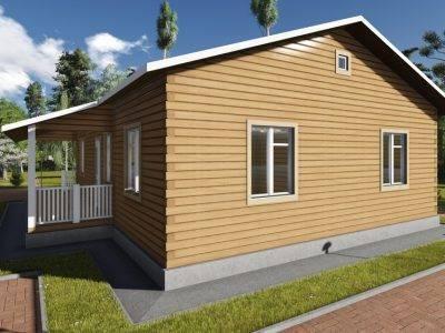 Картинка (2) Одноэтажный дом 11х12 (ДБ-84)