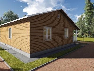 Картинка (4) Проект одноэтажного дом 11х12 с террасой (ДБ-84)