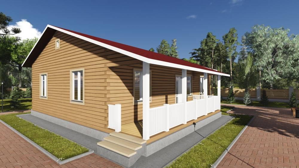 Картинка (1) Одноэтажный дом из бруса 11х12 (ДБ-84)