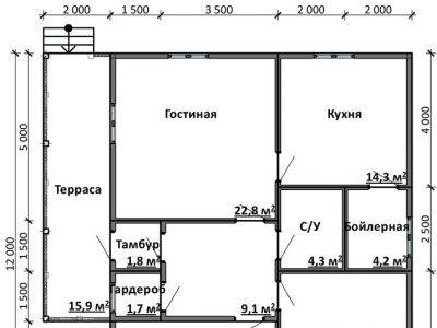 Картинка (5) Планировка дом 11х12 (ДБ-84)