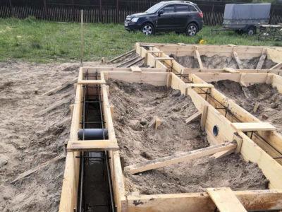 Строительство фундамента в Шатурском районе