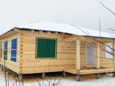Cтроительство одноэтажного дома из проф бруса в Московской области