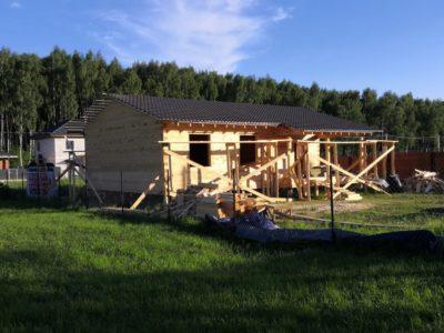 Фотоотчет о строительстве дома по проекту Дб-181, г. Железнодорожный
