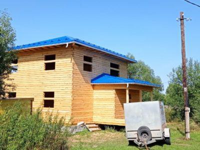 Фотоотчет о строительстве дома «под усадку» в Егорьевском районе, июль 2021г
