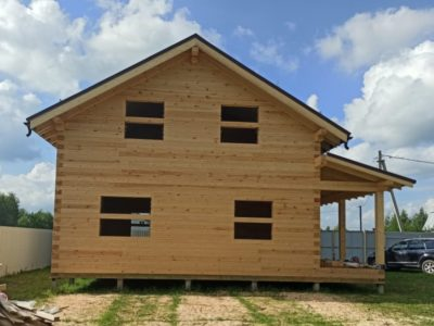 Фотоотчет о строительстве дома по проекту Дб-188, д. Скрипово