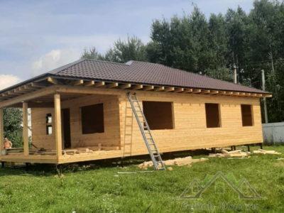 Фотоотчет о строительстве дома «под усадку» в Наро-Фоминском районе