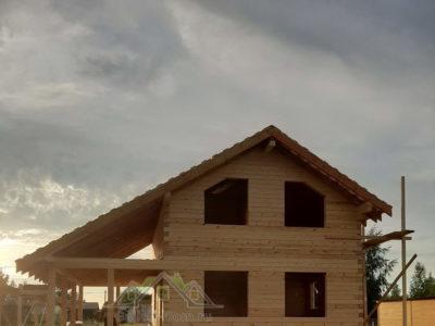 Строительство полутораэтажного дома в Волоколамском районе