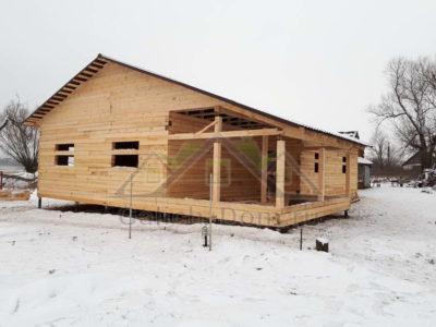 Строительство одноэтажного дома из бруса в Тульской области