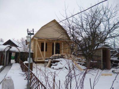 Фоторепортаж строительства дома из бруса в г. Арзамас
