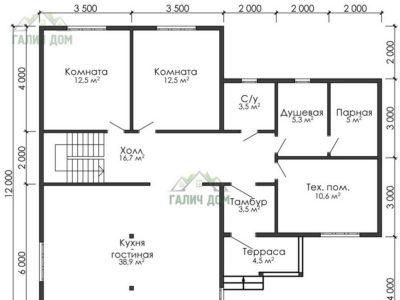Картинка (5) План 1-го этажа (ДБ-20)