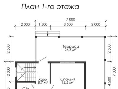 Картинка (5) Планировка 1-го этажа (ДБ-31)