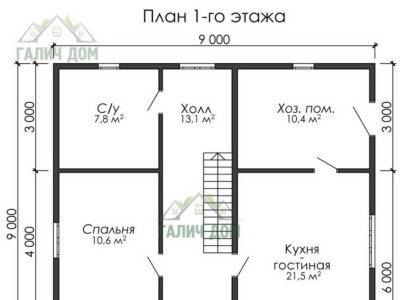 Картинка (5) План 1-го этажа (ДБ-182)