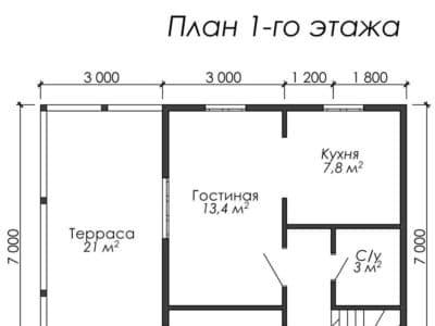Картинка (5) Планировка 1-го этажа (ДБ-34)