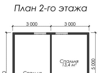 Картинка (6) Планировка 2-го этажа (ДБ-33)