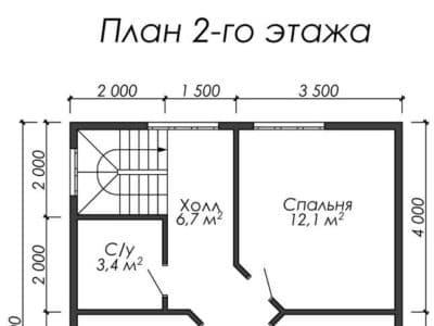 Картинка (6) Планировка 2-го этажа (ДБ-31)