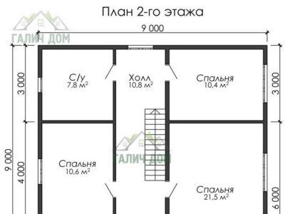 Картинка (6) План 2-го этажа ДБ-182)