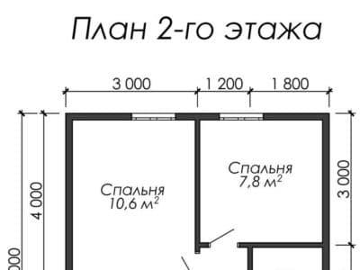 Картинка (6) Планировка 2-го этажа (ДБ-34)
