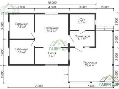Картинка (5) Планировка дома (ДБ-14)