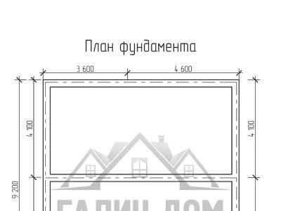 Картинка (7) План фундамента дома 8х9 (ДБ-70)