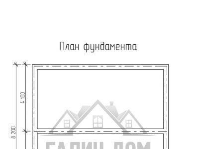 Картинка (8) План фундаметна дома 8х8 (ДБ-69)