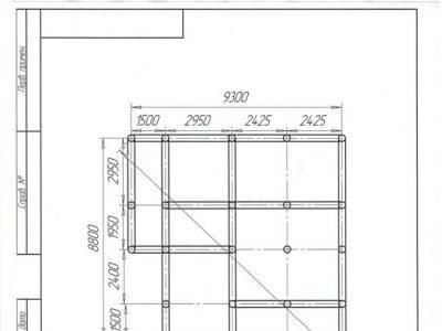 Картинка (8) План свайного фундамента дома из бруса 8х9 (ДБ-44)
