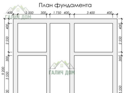 Картинка (7) План ленточного фундамента ДБ-179)