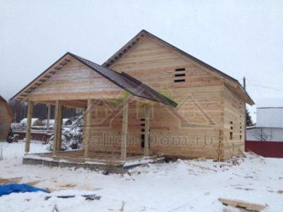 Дом из бруса 150х150 мм, по проекту заказчика в г. Ярославле