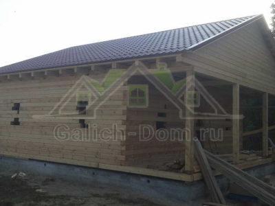 Дом из профилированного бруса под усадку в Рязани