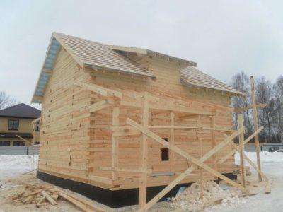 Строительство дома из бруса в Костромской обл.