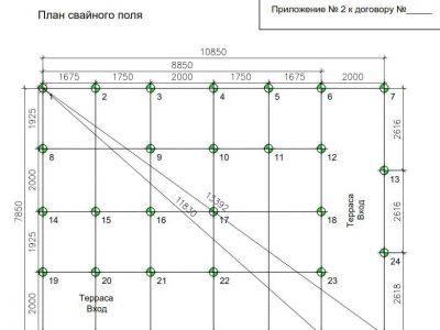 Картинка (7) План свайного фундамента дома 8х11 (ДБ-77)