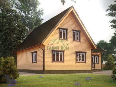Картинка (2) Дом из бруса 12х13 (ДБ-20)
