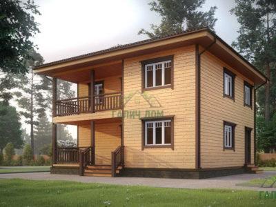 Картинка (2) Двухэтажный дом 9х9 (ДБ-182)