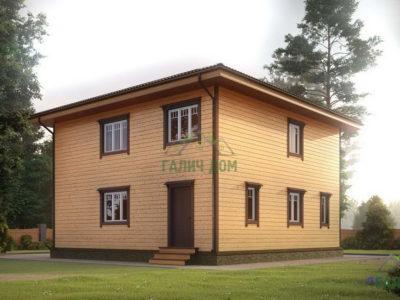 Картинка (3) Проект двухэтажного дома 9х9 (ДБ-182)