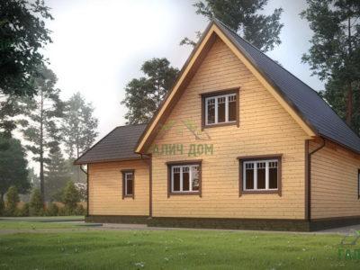 Картинка (3) Проект дома 12х13 с мансардой (ДБ-20)
